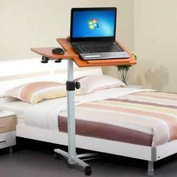 Angle & Height Adjustable Rolling Laptop Desk Cart Over Bed