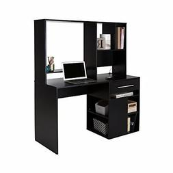 South Shore Annexe Home Office Computer Desk Pure Black Desi