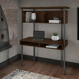 Architect Small Computer Desk with Hutch Storage Shelves Hom