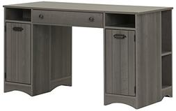 South Shore Artwork Craft Table with Storage, Gray Maple
