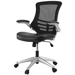 LexMod Attainment Office Chair with Black Mesh Back and Leat