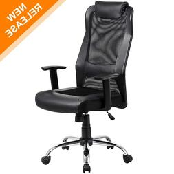 KADIRYA High Back Mesh Office Chair - Ergonomic Computer Des