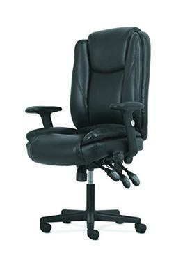 HON Sadie High-Back Leather Office/Computer Chair - Ergonomi