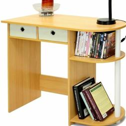 Beech White Laptop Desk Computer Workstation Writing Table S