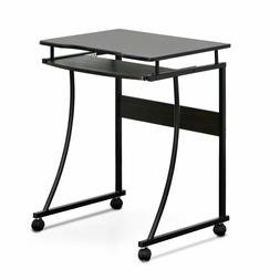 FURINNO Besi Metal Frame Computer Desk with Keyboard Tray, E