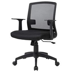 MR Direct Office Chair Mid Back Swivel Lumbar Support Desk T