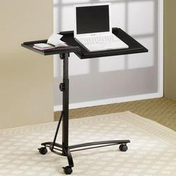 Flash Furniture Black Adjustable Height Steel Mobile Compute