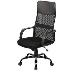 Black High Back Modern Mesh Office Chair