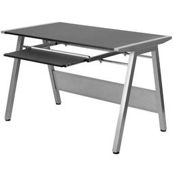 Flash Furniture Black Computer Desk with Pull-Out Keyboard T