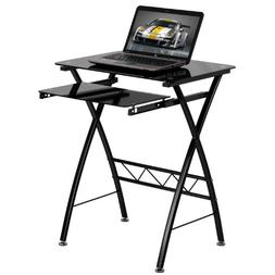 Flash Furniture Black Tempered Glass Computer Desk with Pull