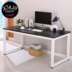 Black Wood Computer Desk PC Laptop Table Workstation Home Of