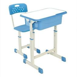 Blue Children Kid Student 1 Desk and 1 Chair Study School Se
