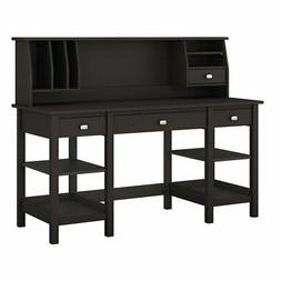 "Bush Broadview 60"" Home Computer Desk with Hutch in Espresso"