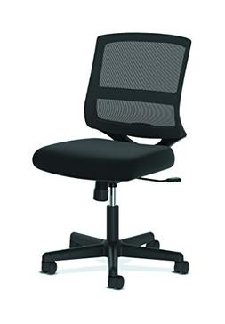 HON ValuTask Mid-Back Mesh Task Chair, Armless Black Mesh Co
