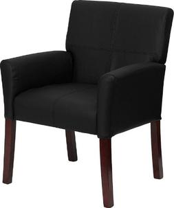 Flash Furniture Black Leather Executive Side Reception Chair