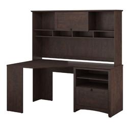 Bush Furniture BUV008MSC Buena Vista Corner Desk with Hutch,