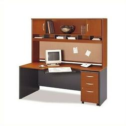 Bush Business Home Office Computer Desk Set with Hutch in Au