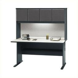 "Bush Business Series A 60"" Computer Desk with Hutch in Slate"