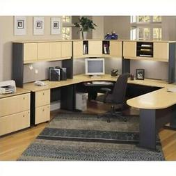 Bush Furniture Beech and Grey Advantage Series Office Suite