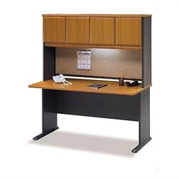 """Bush Series A 60"""" Computer Desk with Hutch in Natural Cherry"""