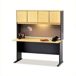 "Bush Series A 60"" Computer Desk with Hutch in Beech"