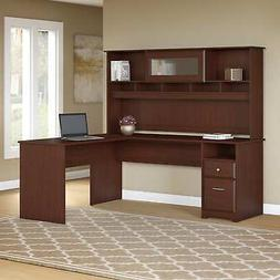 Copper Grove Busiek 72W L-shaped Computer Desk with Hutch an
