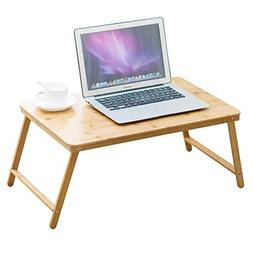 C.K.H. CKH Folding Laptop Desk Bed with Small Table Dormitor