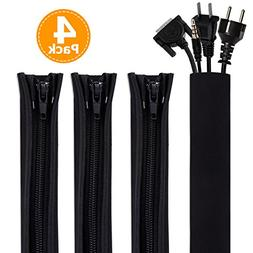 Cable Management Sleeve, Bestfy Cord Organizer System - 19.5