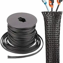 Cable Sleeve,Cord Cover,Wire Protector And Hider 3/8 Inche C