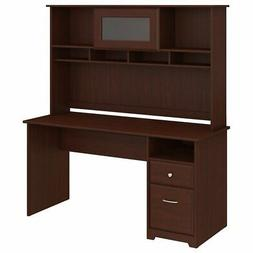 Bush Furniture Cabot 60W Computer Desk with Hutch and Drawer