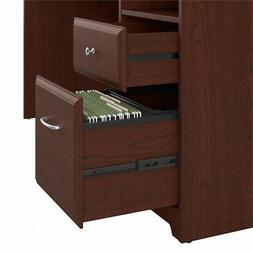 Bush Furniture Cabot 60W L Shaped Computer Desk with Drawers