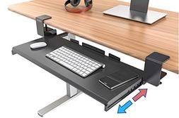 Clamp On Keyboard Tray Office Under Desk Ergonomic Desks Woo