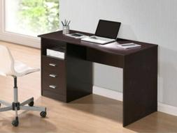 Techni Mobili Classic Computer Desk with Drawers, Wenge
