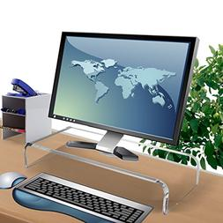 clear acrylic computer monitor stand for desk,acrylic glass