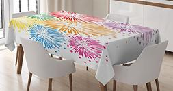 Colorful Home Decor Tablecloth by Ambesonne, Celebration Fir