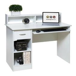 Comfort Products Essential Computer Desk, Hutch, Pull-Out Ke