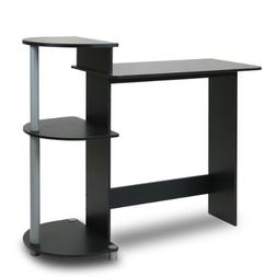 Compact Computer Desk, Black / Grey
