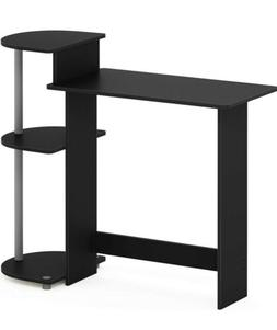 compact computer desk with shelfs home office