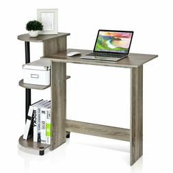 Compact Laptop Computer Desk w/ CPU Printer Storage Shelf Ho