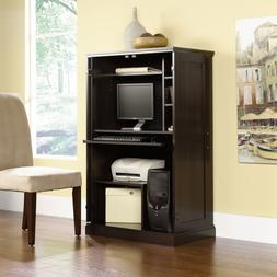 Computer Armoire Desk Hutch Workstation Storage Shelves Home