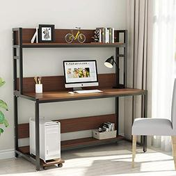 """Tribesigns 55"""" Large Computer Desk with Hutch, Modern Writin"""