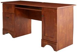 select computer desk brushed maple