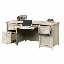 Bowery Hill Computer Desk in Chalked Chestnut