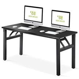 Tribesigns Computer Desk 55 inch Folding Office Desk Table W