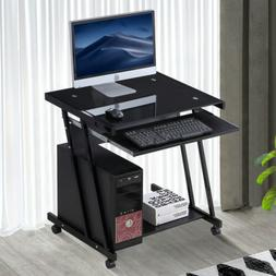 Computer Desk Home Office Laptop PC Table Workstation with 4