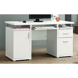 Computer Desk Home Office Furniture Workstation Table in Whi