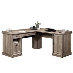 Sauder Barrister Lane L Shaped Computer Desk in Salt Oak