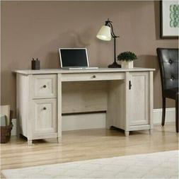 Pemberly Row Computer Desk in Chalked Chestnut