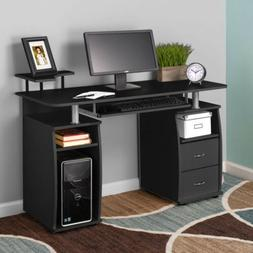 Computer Desk PC Laptop Writing Table Workstation Drawers Mo