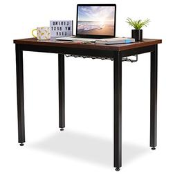 """Small Computer Desk for Home Office - 36"""" Length Table w/C"""